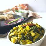 Mooli kePatte ki Bhurji or Daikon Leaves Stir Fry