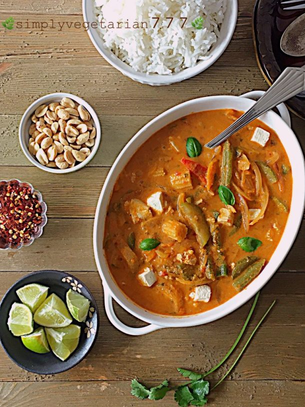 Instant pot red thai curry recipe easy oil free vegan glutenfree instant pot red thai curry recipe forumfinder Gallery