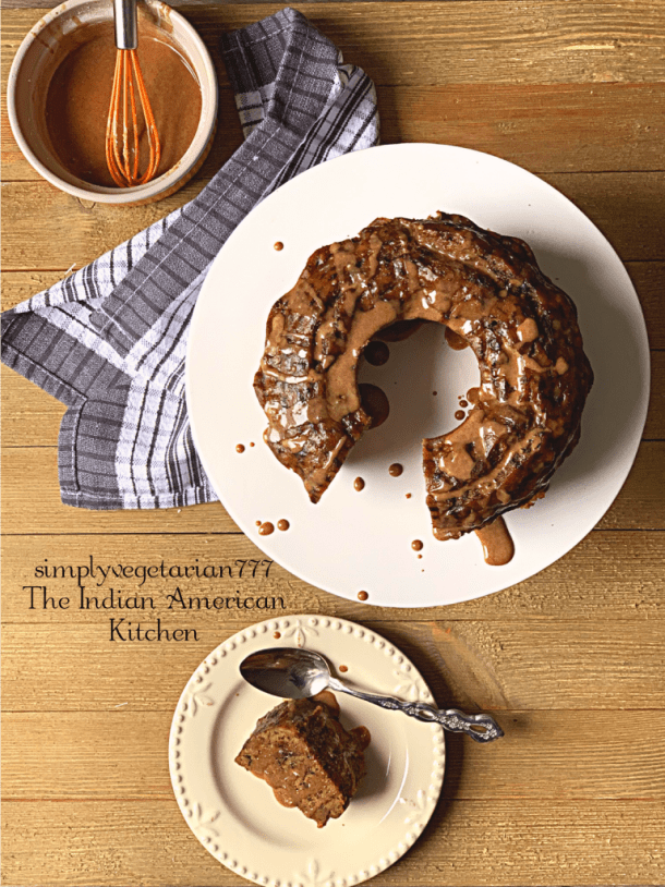 Instant Pot Banana Bread Recipe is so easy and utterly delicious. It is perfect for the holiday season, ready to bake and gift. This Banana Bread drizzled with Quick Cinnamon Glaze is an ideal Dessert Dream. #instantpotcake #instantpotbananabread #easybananabread #eggfreebananabread #holidaybakes