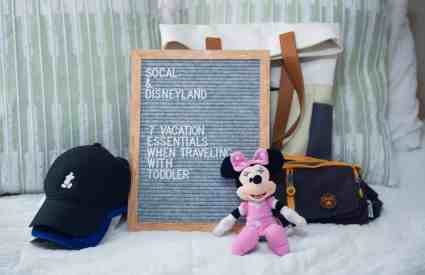 SoCal and Disneyland: 7 Vacation Essentials When Traveling with a Toddler
