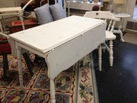 White Painted Drop Leaf Kitchen Table - Simply Vintage of ...