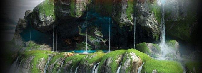 fu kung panda dragon statue desktop wallpapers background grotto resolution hd pc iphone