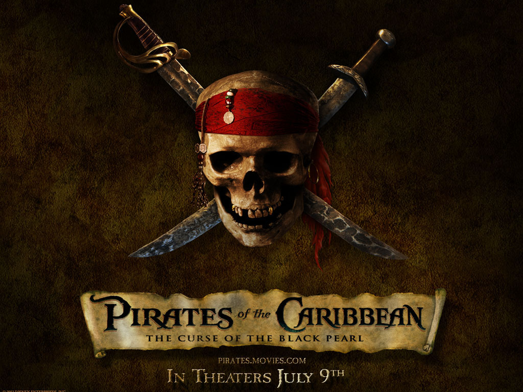 pirates of the caribbean pirate skull desktop wallpaper