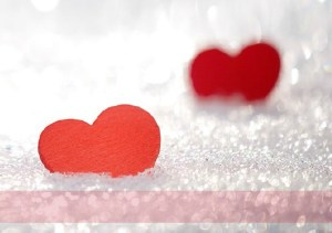 hearts and snow