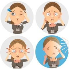 dry eye cartoon image