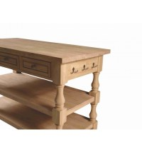 [60 Inch] Tuscan Kitchen Island - Simply Woods Furniture ...