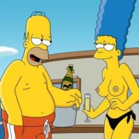 I wonder how drunk marge is, she is so sexy. Homer is a clever fellow to get her that drunk so she gets naked. Again, she so sexy.