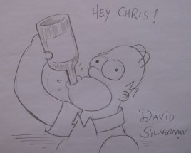 David Silverman drawing of Homer for me