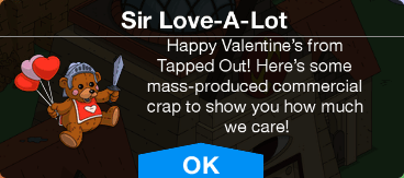 Tapped Out Sir Love-A-Lot Unlock.png