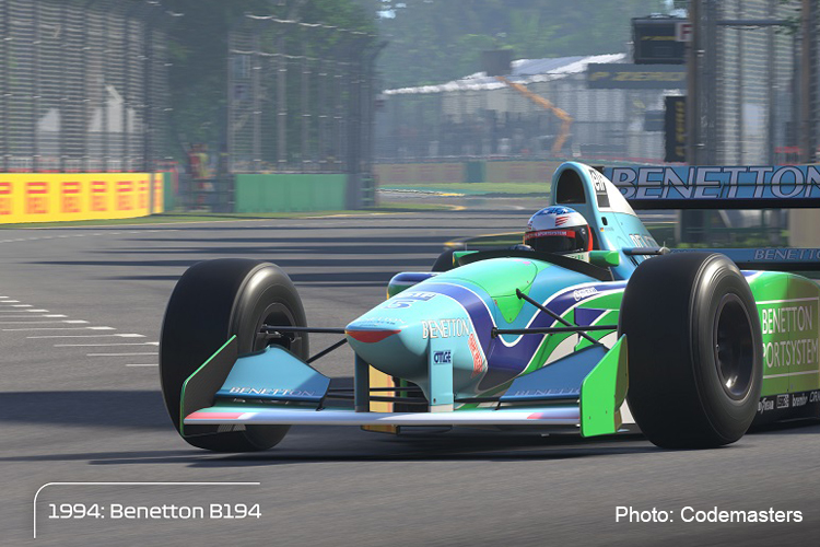 The Benetton B194 will make it's Codemasters debut on F1 2020.