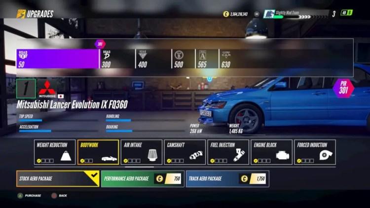 Project CARS 3 Aero Upgrades