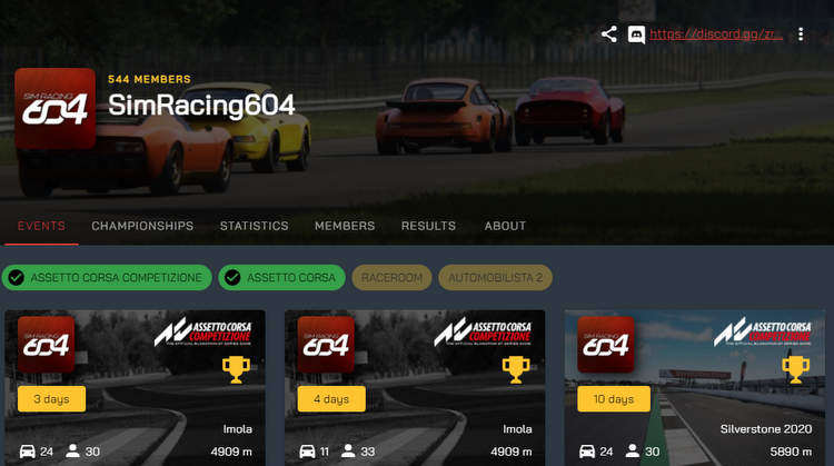 simracing.gp: SimRacing604 Community spotlight