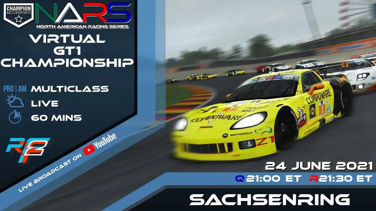 rFactor 2 CMS NARS Virtual GT1 Series Sachsenring 24/06/21