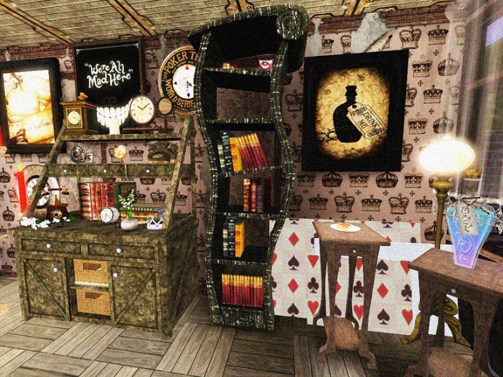Doty Round Alice Wonderland Kitchen Dining Room Sandymdh