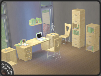 Around the Sims 2  Objects  Study  Modern Line