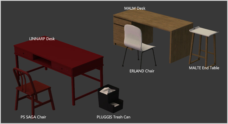 Around the Sims 2  Objects  Study  IKEA Office