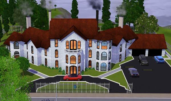 Sims 3 Manoir Blanc White manor  Architecture Maison House jeu les sims 3 game