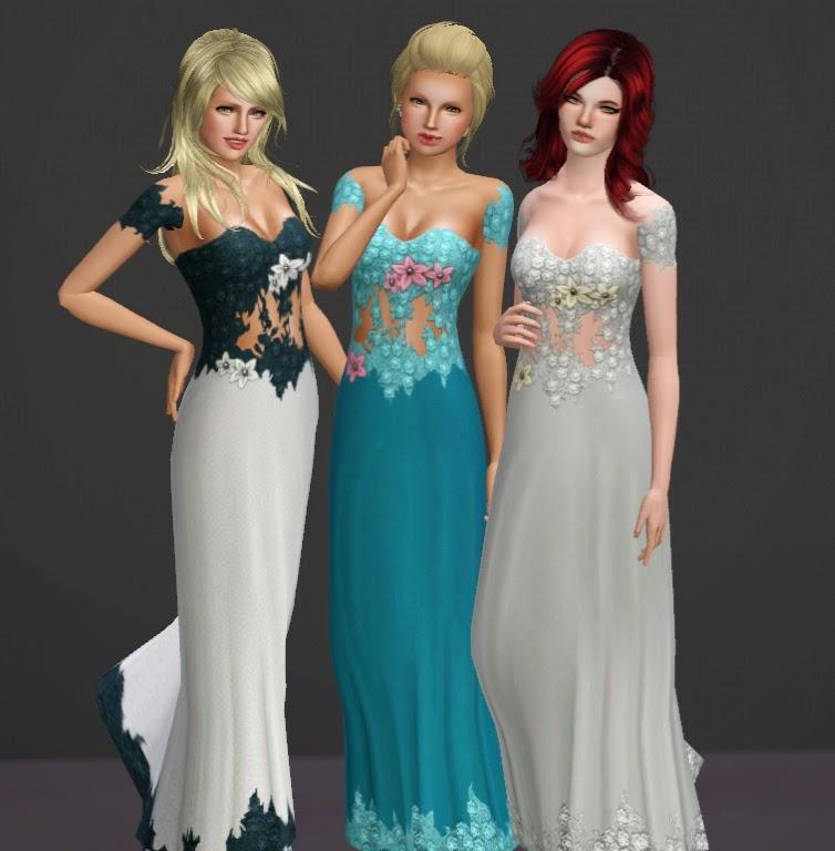 Sims 3 Floral Dresses