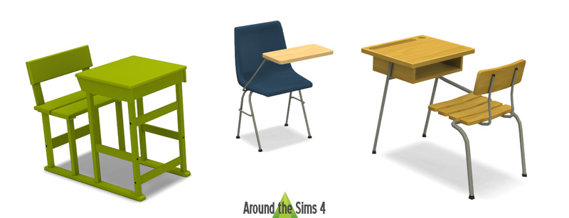 Around The Sims 4 Custom Content Download Desk Chair