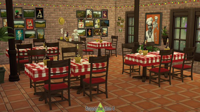 Around The Sims 4 Custom Content Download Pizzeria