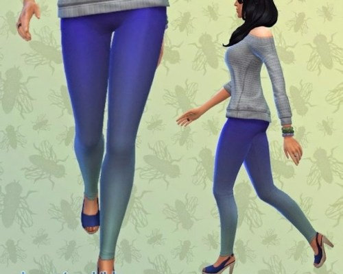 Tights Footless Blue Deep Dye Recolor