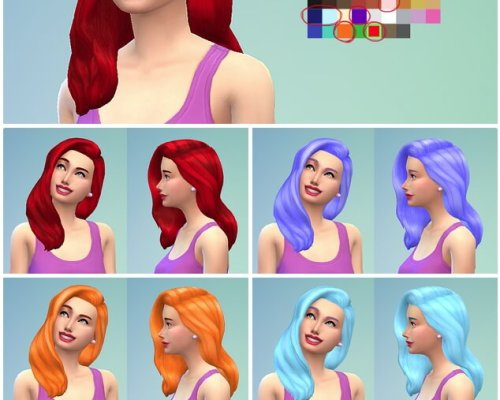 Mermaid hair recolors