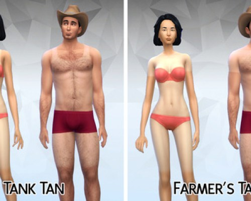 Tank tan and farmers tan