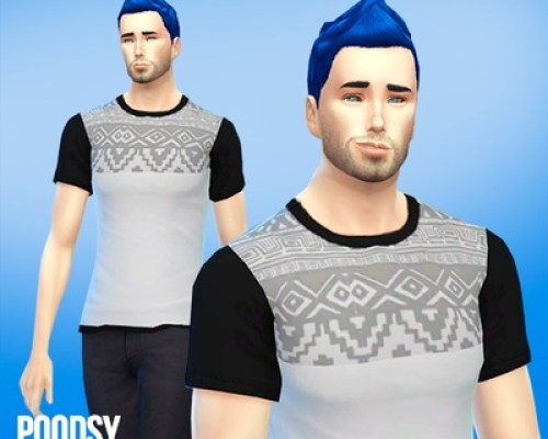 Etnic themed shirt for ya males