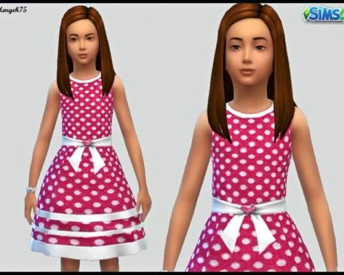 Polka Dot Dress (cf) by Margies Sims at Sims