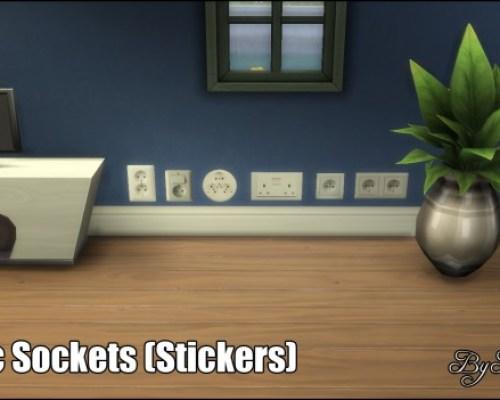 Electric Sockets Wall Stickers by Bakie