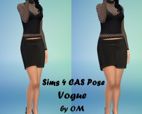 Sims 4 Vogue Poses by OM