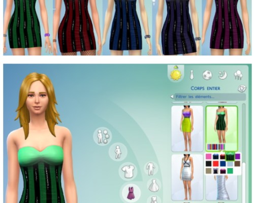 Non-default Glitter Dress set