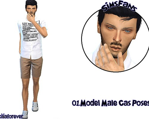 Model Male Cas Poses by Siciliaforever