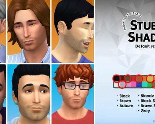 Stubbly Shadow 7 default hair replacements