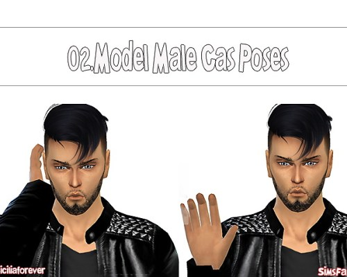 Model Male Cas Poses 02 by Siciliaforever