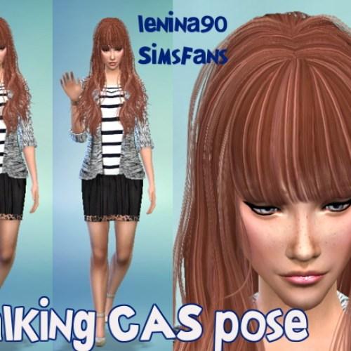 Walking TS4 CAS pose by lenina_90