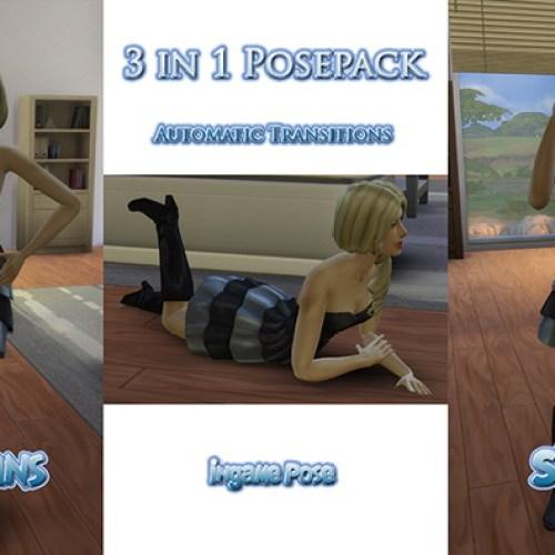 Female 3 in 1 Posepack by Sim4fun