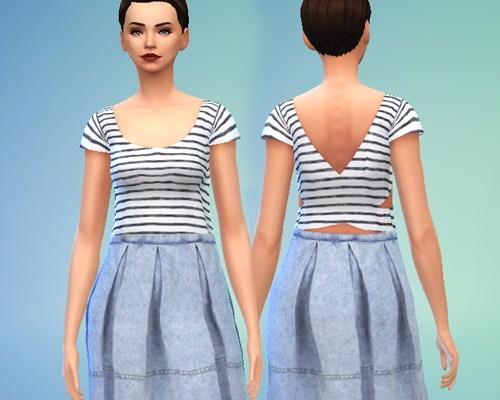 Denim and Stripes Dress