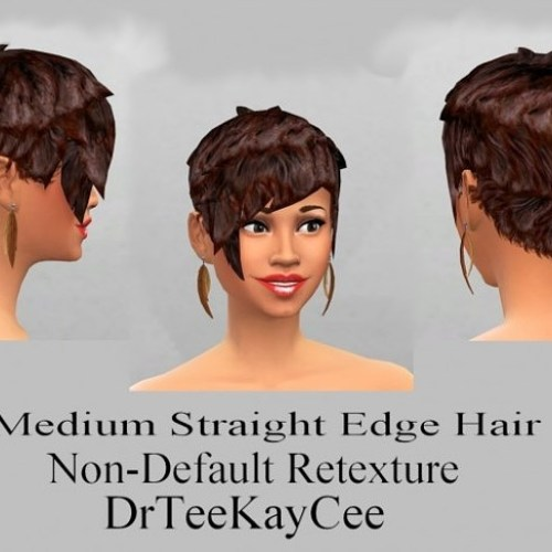 Medium straight hair retexture by DrTeeKayCee