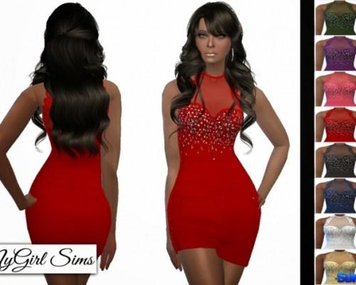 Lace Trim Asymmetric Mini Dress