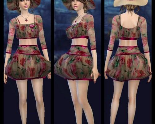 Bubble Rose Dress & Hat