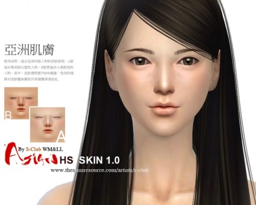 ASIAN H.S ND skintones 1.0 by S-Club WMLL