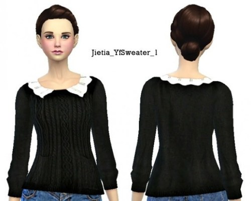 Lace Collar Sweater