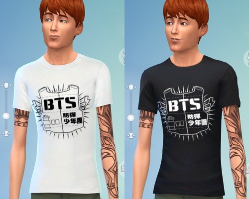 BTS non-default t-shirt recolors