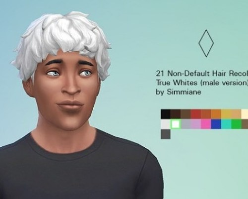 True White Hair Recolors male version