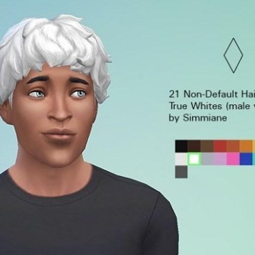 True White Hair Recolors male version