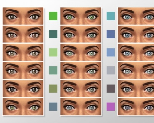 Natural Colors Eyeset 2 by megary