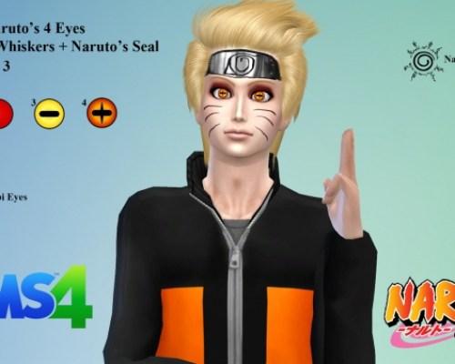 Naruto's Eyes + Whiskers + Seal