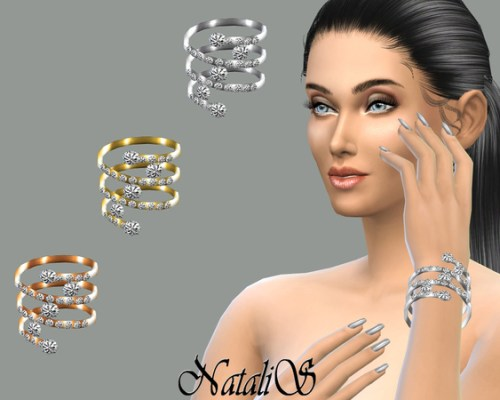 Spring and crystal bracelet by NataliS