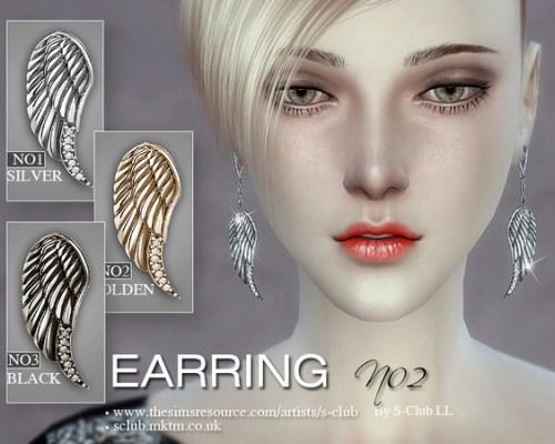 Earrings 02 by S-Club LL